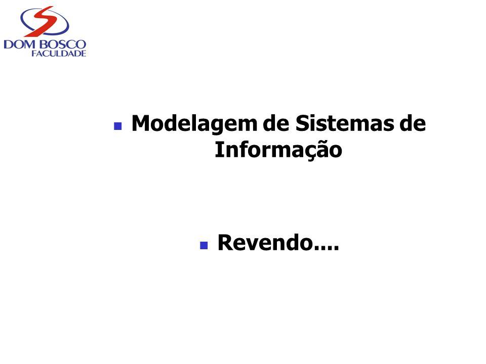 Modelagem de Sistemas de Informação Revendo....