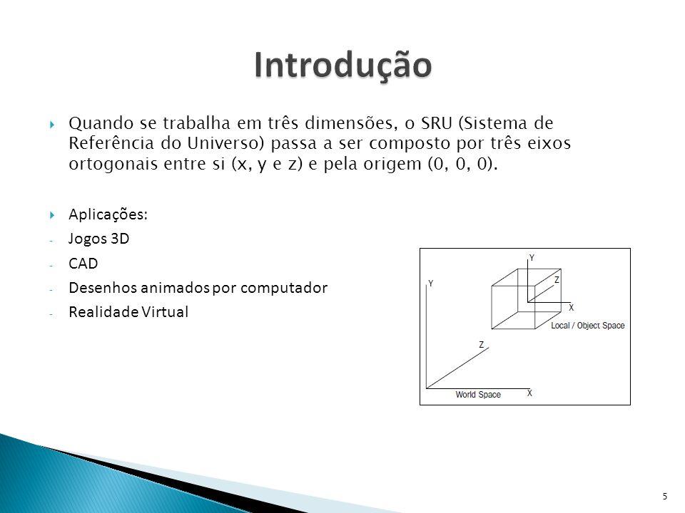  O processo de visualização de uma cena 3D por computador é semelhante ao processo envolvido para se tirar uma fotografia.