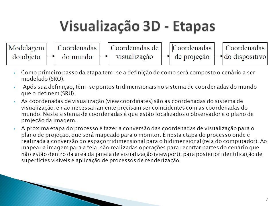  O viewing system é um sistema de coordenadas usado para dar ao observador um maior controle e mobilidade da posição em que se deseja observar um cenário tridimensional.