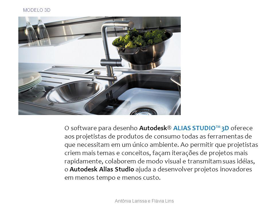MODELO 3D O software para desenho Autodesk® ALIAS STUDIO™ 3D oferece aos projetistas de produtos de consumo todas as ferramentas de que necessitam em um único ambiente.