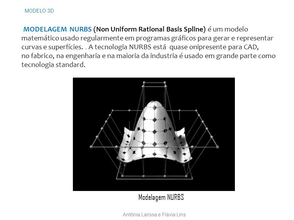 MODELAGEM NURBS (Non Uniform Rational Basis Spline) é um modelo matemático usado regularmente em programas gráficos para gerar e representar curvas e superfícies..