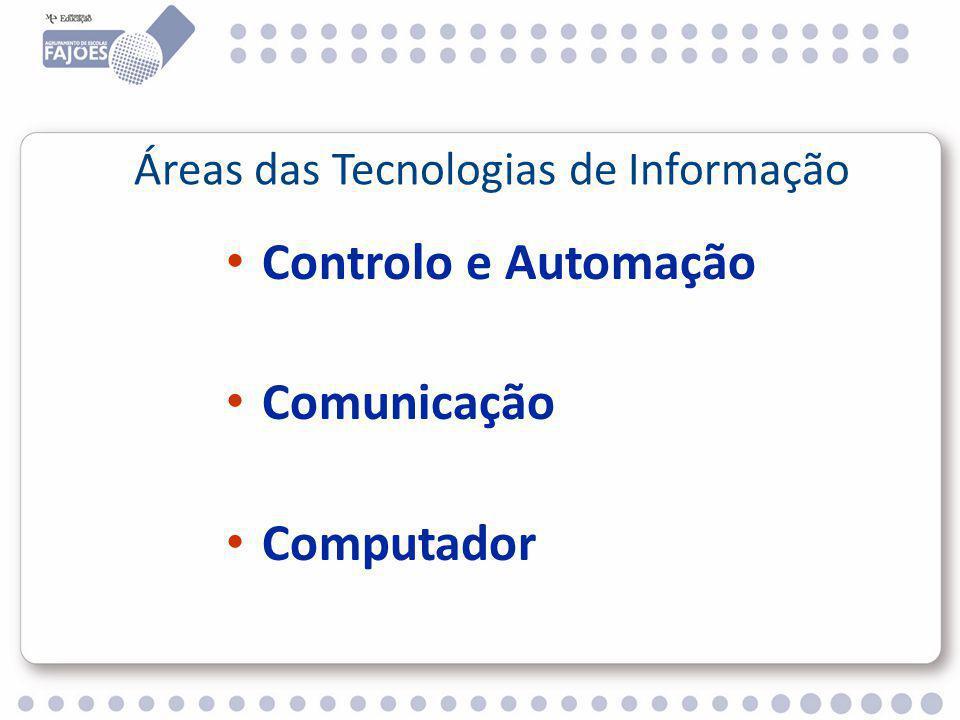 Controlo e Automação Comunicação Computador Áreas das Tecnologias de Informação