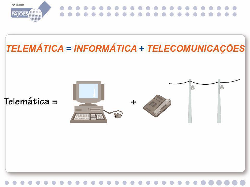 TELEMÁTICA = INFORMÁTICA + TELECOMUNICAÇÕES