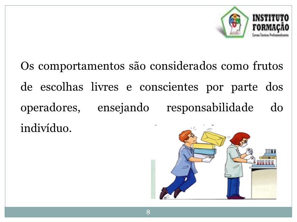 Os comportamentos são considerados como frutos de escolhas livres e conscientes por parte dos operadores, ensejando responsabilidade do indivíduo.