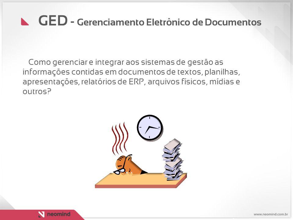 O gerenciamento eletrônico de documentos é um conjunto de métodos que permite: gerar, controlar, armazenar, compartilhar e recuperar informações existentes em documentos através de um sistema digital.