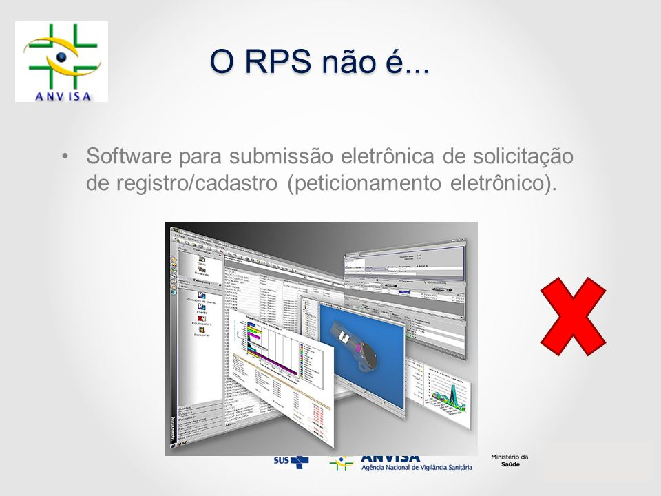 O RPS não é... Software para submissão eletrônica de solicitação de registro/cadastro (peticionamento eletrônico).