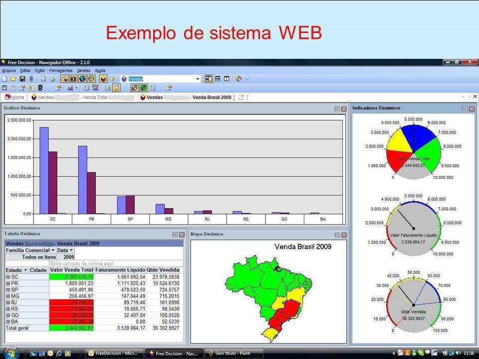 TIPOS DE SISTEMAS São usados, geralmente, em trabalho de coleta de dados.