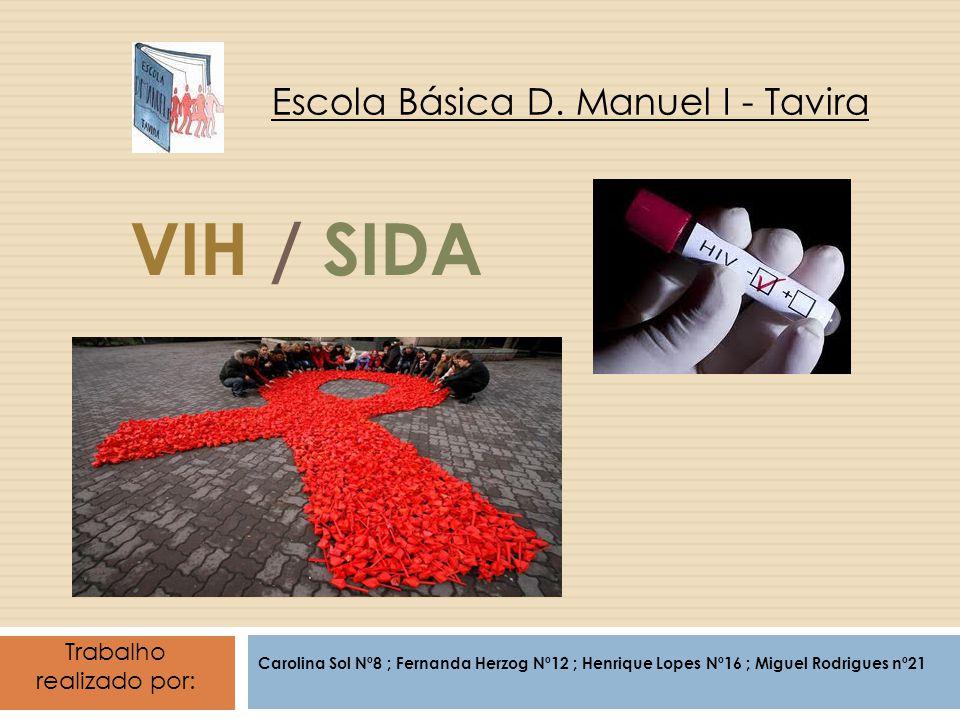 VIH / SIDA Carolina Sol Nº8 ; Fernanda Herzog Nº12 ; Henrique Lopes Nº16 ; Miguel Rodrigues nº21 Escola Básica D.