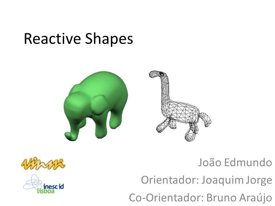 Reactive Shapes João Edmundo Orientador: Joaquim Jorge Co-Orientador: Bruno Araújo