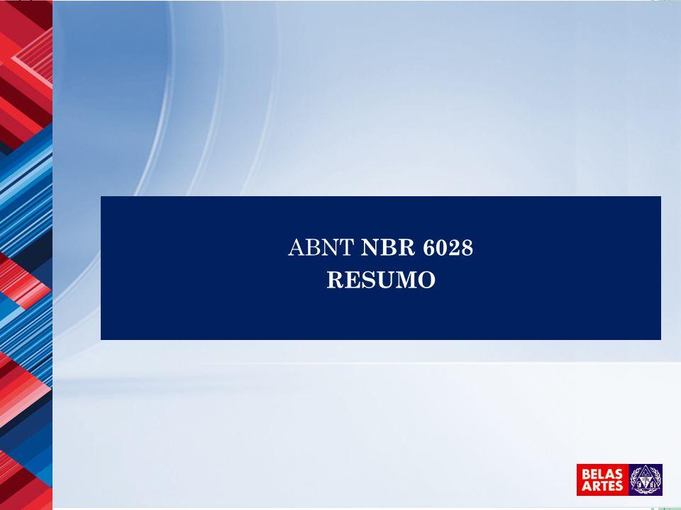 ABNT NBR 6028 RESUMO