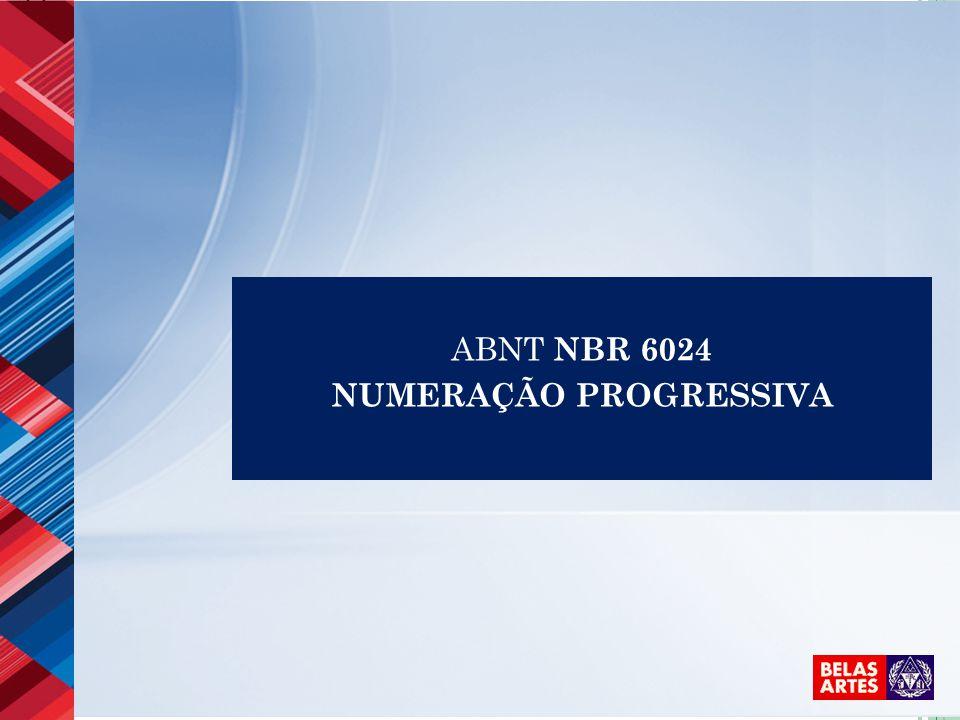 ABNT NBR 6024 NUMERAÇÃO PROGRESSIVA