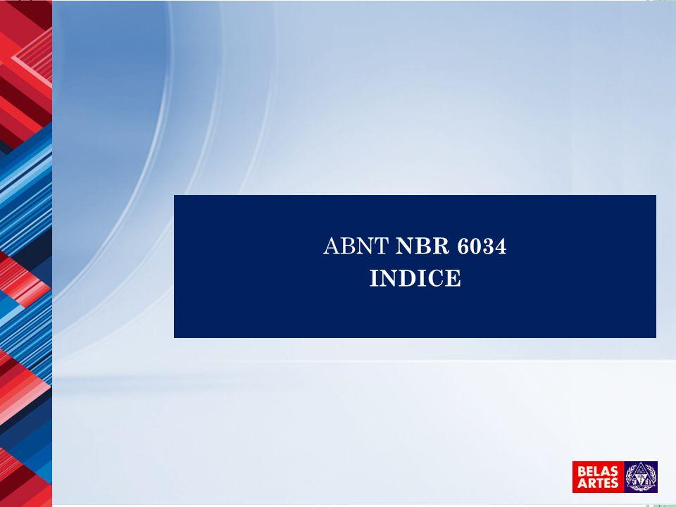 ABNT NBR 6034 INDICE