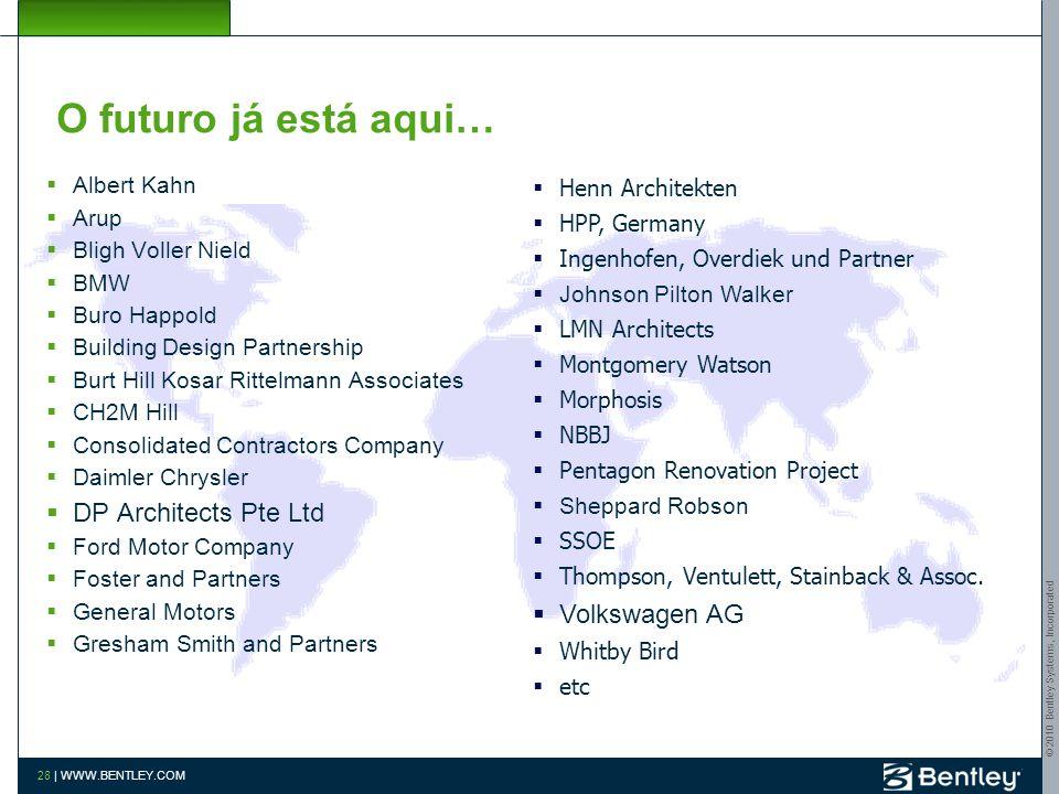 © 2010 Bentley Systems, Incorporated 27   WWW.BENTLEY.COM Situação do BIM no Brasil