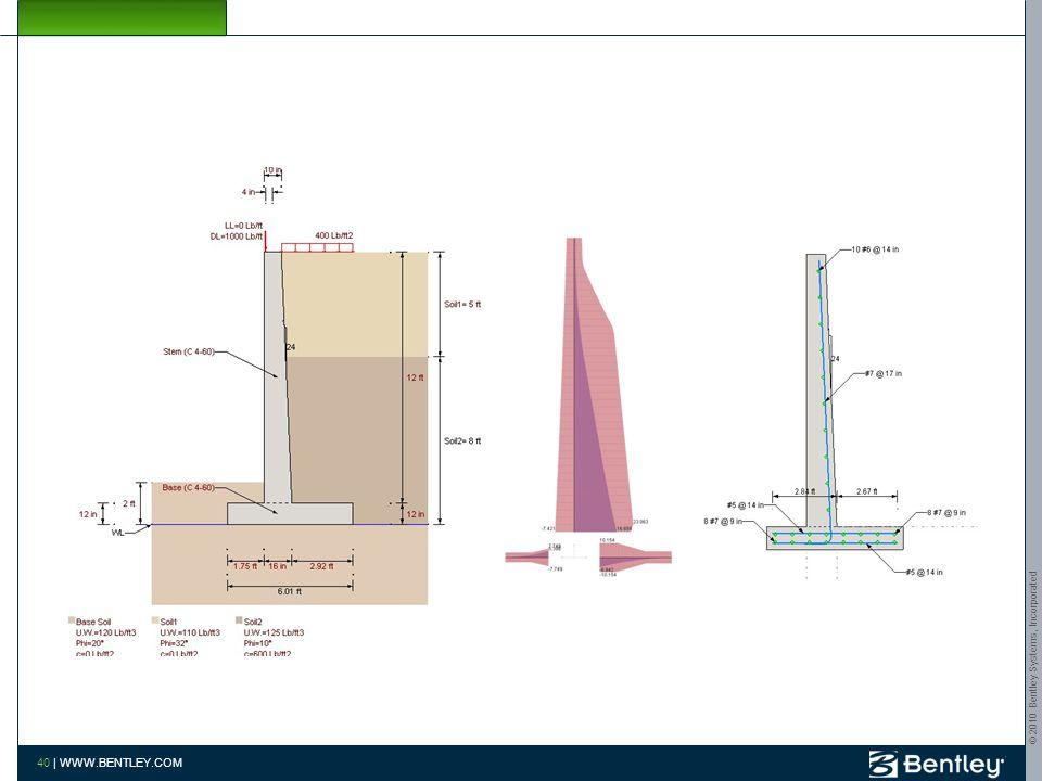 © 2010 Bentley Systems, Incorporated 39 | WWW.BENTLEY.COM AutoPIPE STAAD 39 | WWW.BENTLEY.COM