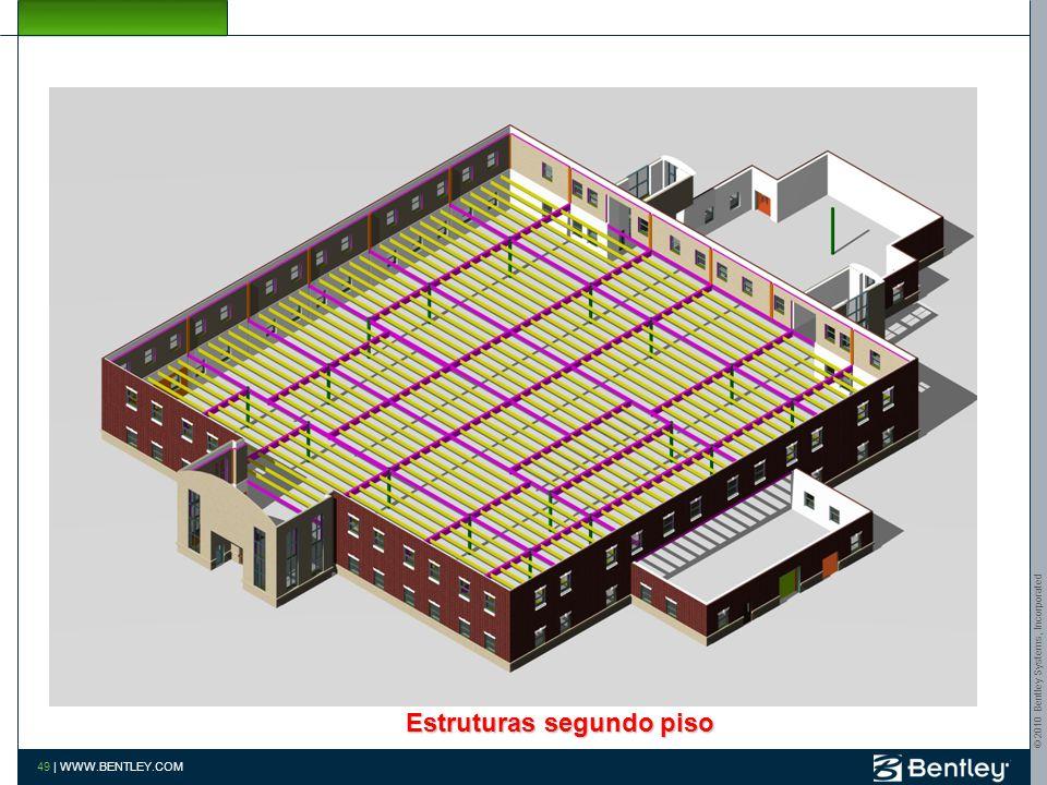 © 2010 Bentley Systems, Incorporated 48 | WWW.BENTLEY.COM Estruturas segundo piso