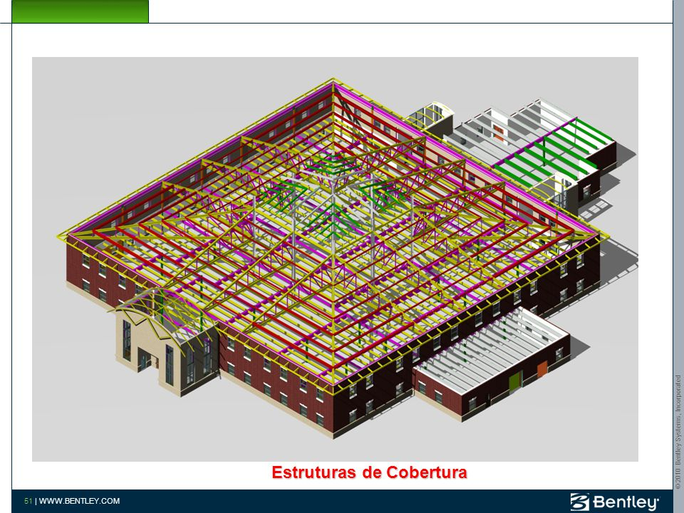© 2010 Bentley Systems, Incorporated 50 | WWW.BENTLEY.COM Estrutura de Cobertura