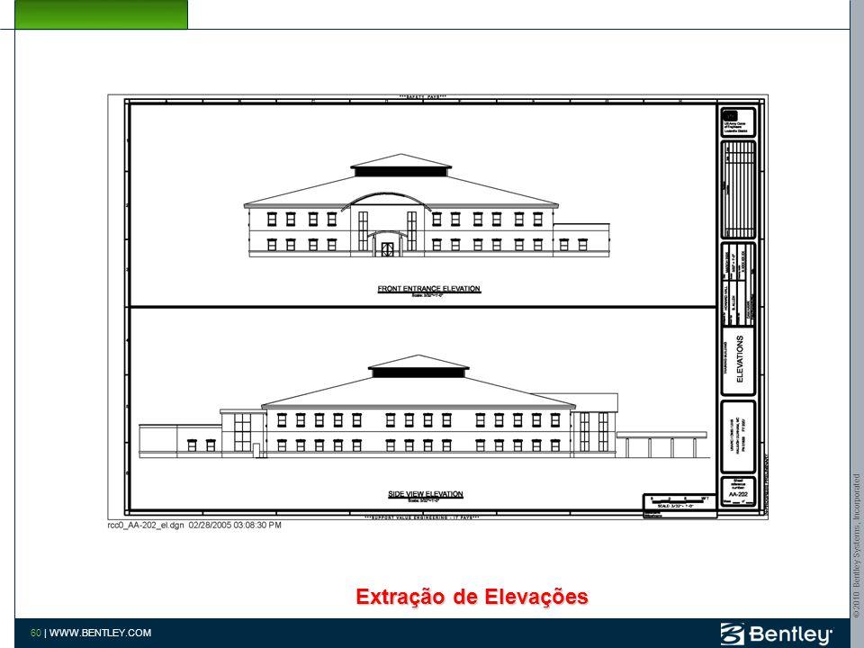 © 2010 Bentley Systems, Incorporated 59 | WWW.BENTLEY.COM Extração Isométrica