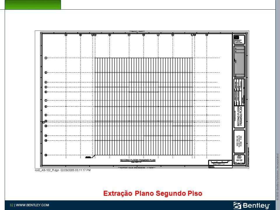 © 2010 Bentley Systems, Incorporated 61 | WWW.BENTLEY.COM Extração Plano de Fundações