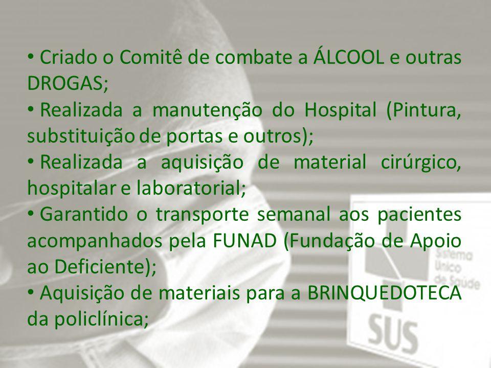 Procedimentos realizados em laboratório PROCEDIMENTOS Quantidado TESTE DE VDRL P/ DETECÇÃO DE SÍFILIS 15 HEMOGRAMA COMPLETO 1.063 TESTE RÁPIDO PARA Ag HBs 22 PESQUISA DE FATOR RH (INCLUI D FRACO) 225 DETERMINAÇÃO DE TEMPO DE COAGULAÇÃO 36 DETERMINAÇÃO DE TEMPO DE SANGRAMENTO-DUKE 36 DETERMINAÇÃO DE VELOCIDADE DE HEMOSSEDIMENTAÇÃO (VHS) 24 ANÁLISE DE CARACTERES FÍSICOS, ELEMENTOS E SEDIMENTO DA URINA 820 PESQUISA DE LARVAS NAS FEZES 564 DOSAGEM DE GONADOTROFINA CORIONICA HUMANA (HCG, BETA HCG) 128 DOSAGEM DE GLICOSE602