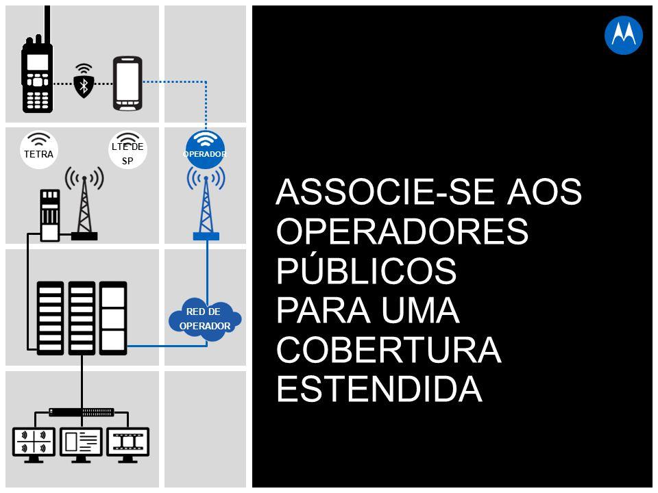 TETRA LTE DE SP RED DE OPERADOR ASSOCIE-SE AOS OPERADORES PÚBLICOS PARA UMA COBERTURA ESTENDIDA OPERADOR