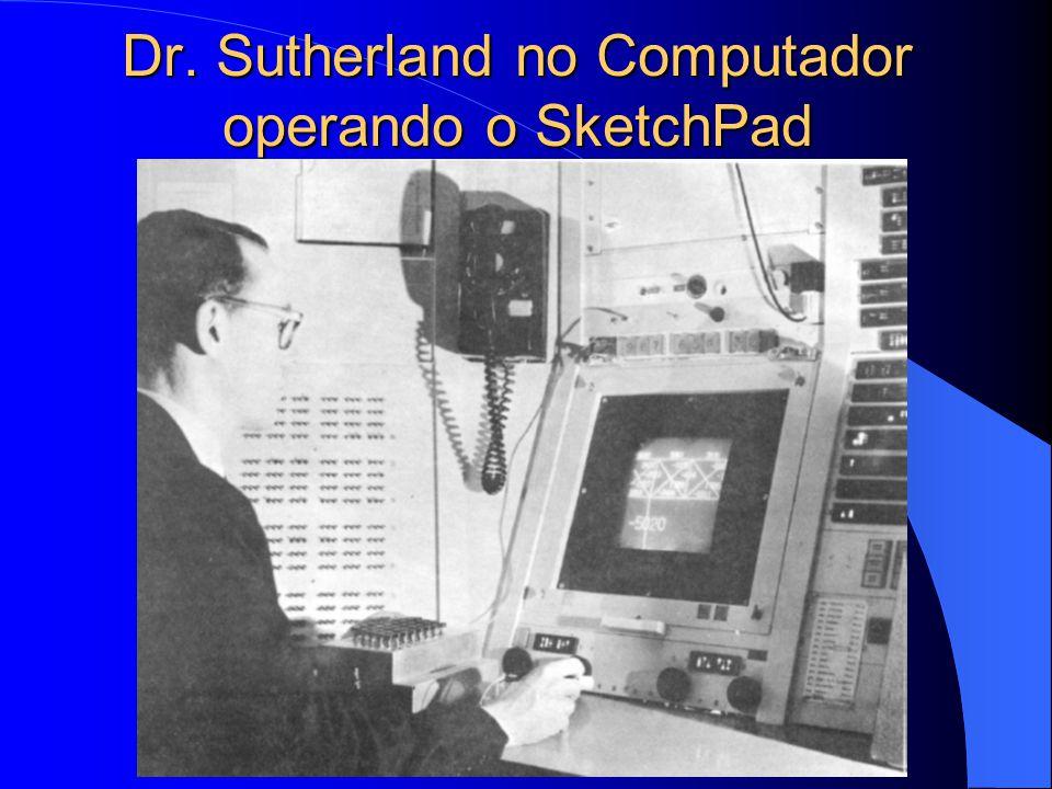Dr. Sutherland no Computador operando o SketchPad