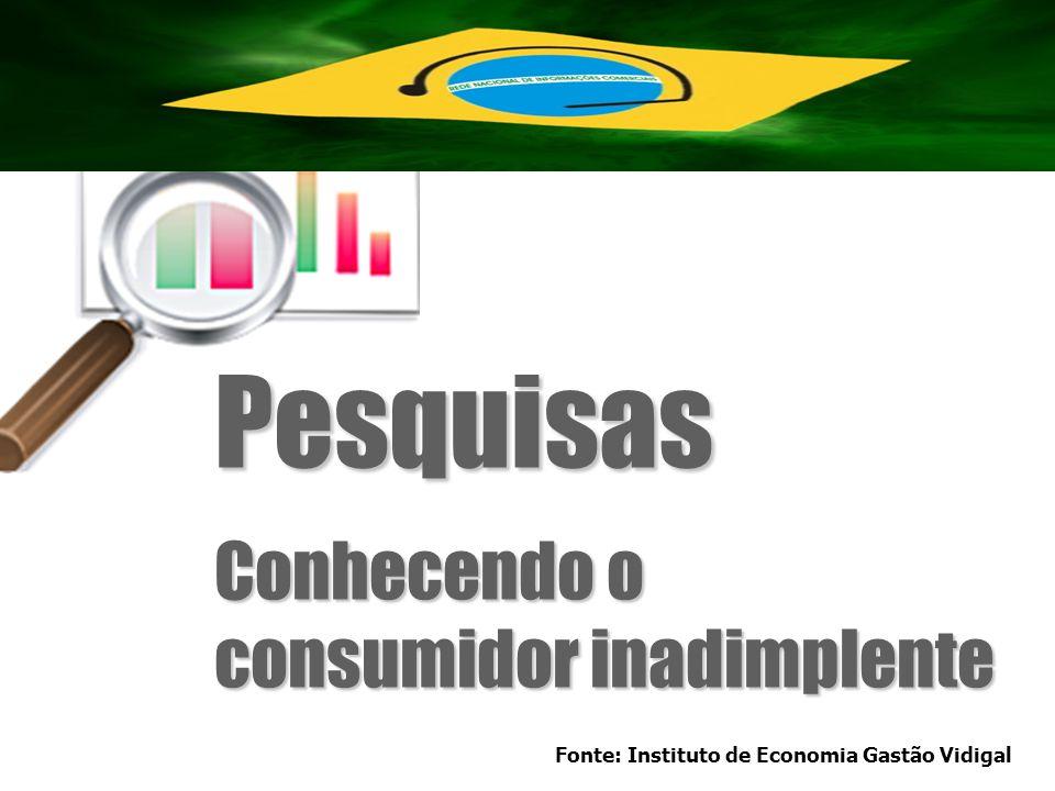 Pesquisas Conhecendo o consumidor inadimplente Fonte: Instituto de Economia Gastão Vidigal