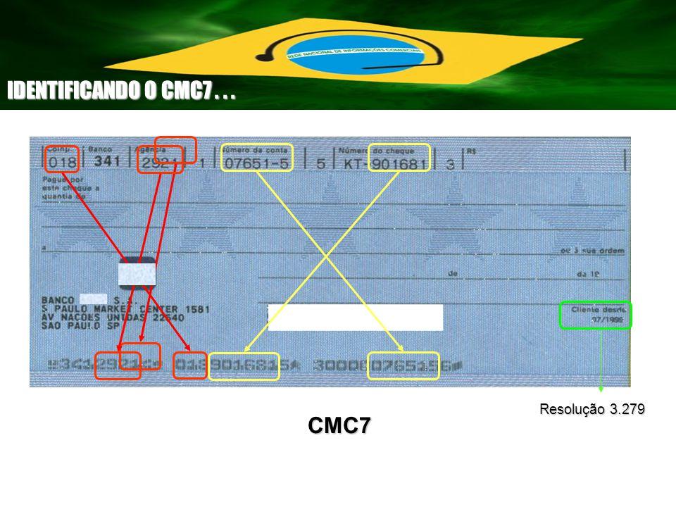 Resolução 3.279 CMC7 IDENTIFICANDO O CMC7...