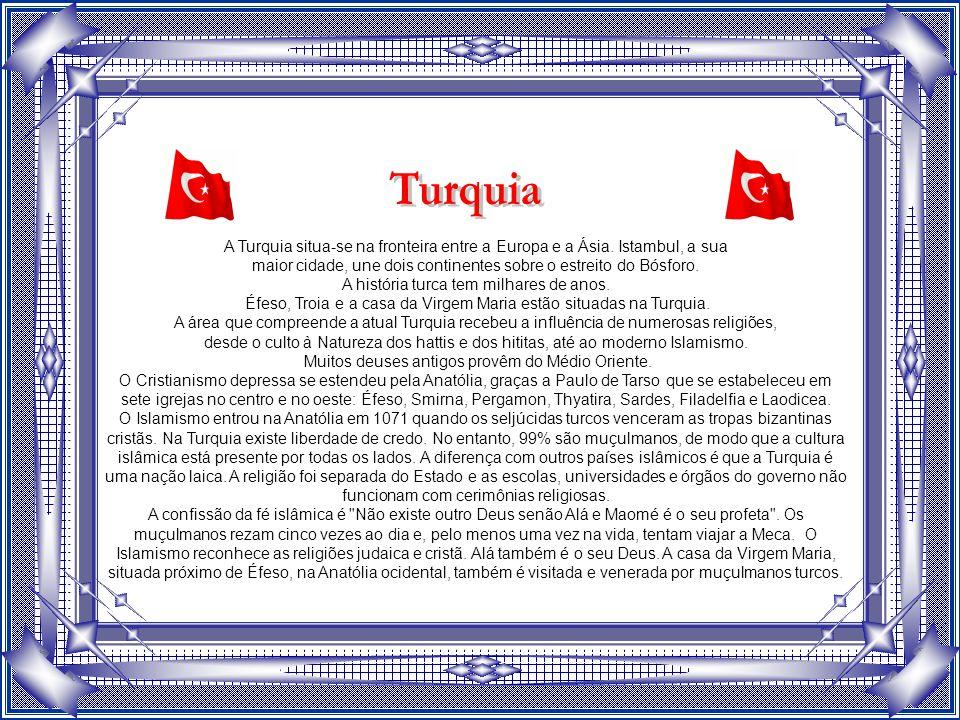 A Turquia situa-se na fronteira entre a Europa e a Ásia.