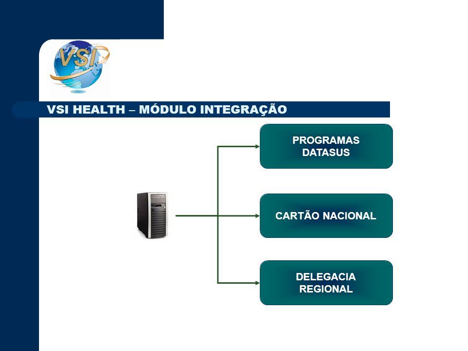 PROGRAMAS DATASUS DELEGACIA REGIONAL CARTÃO NACIONAL VSI HEALTH – MÓDULO INTEGRAÇÃO