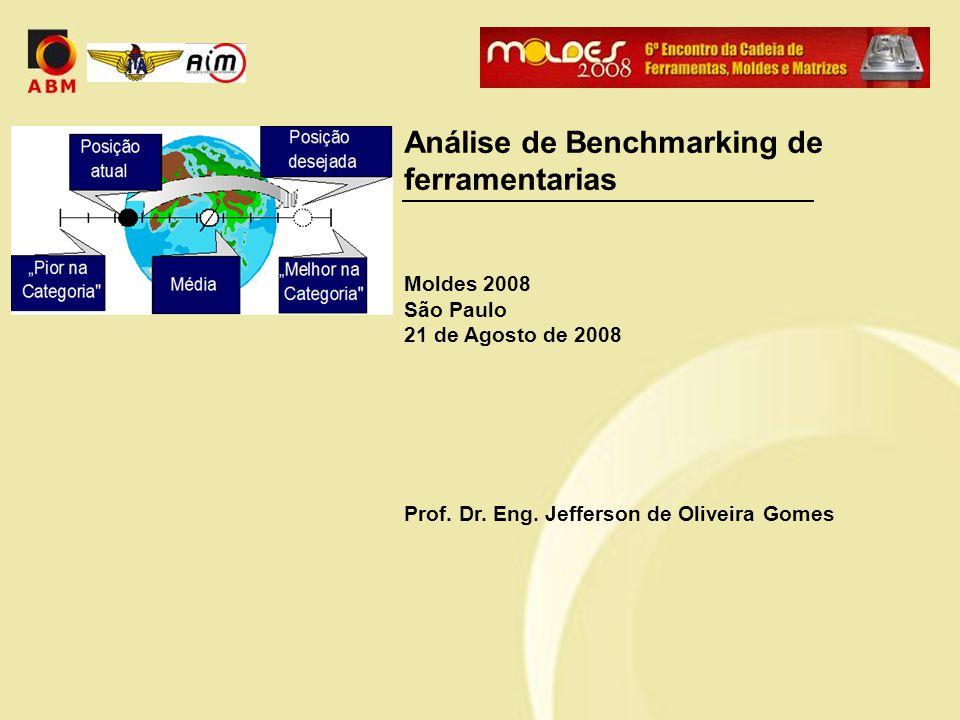 Análise de Benchmarking de ferramentarias Moldes 2008 São Paulo 21 de Agosto de 2008 Prof. Dr. Eng. Jefferson de Oliveira Gomes