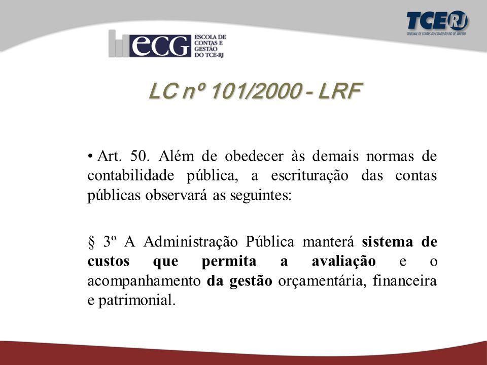 LC nº 101/2000 - LRF Art. 50.