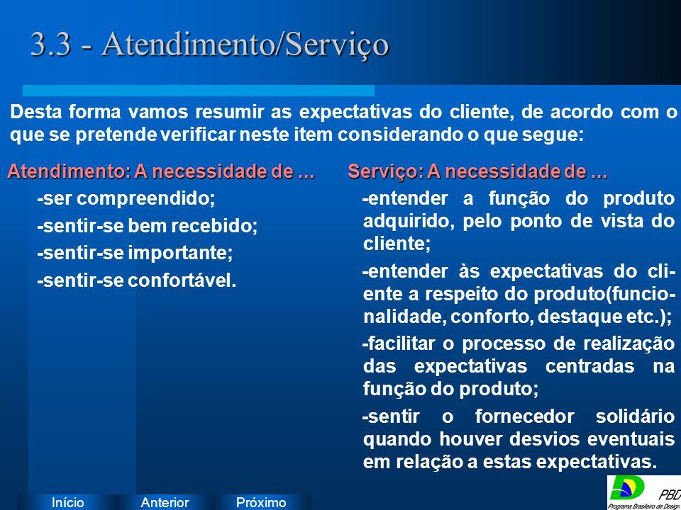 Próximo AnteriorInício 3.3 - Atendimento/Serviço Instruções: Exclua o ícone do documento de exemplo e substitua-o pelos do documento de trabalho: Crie