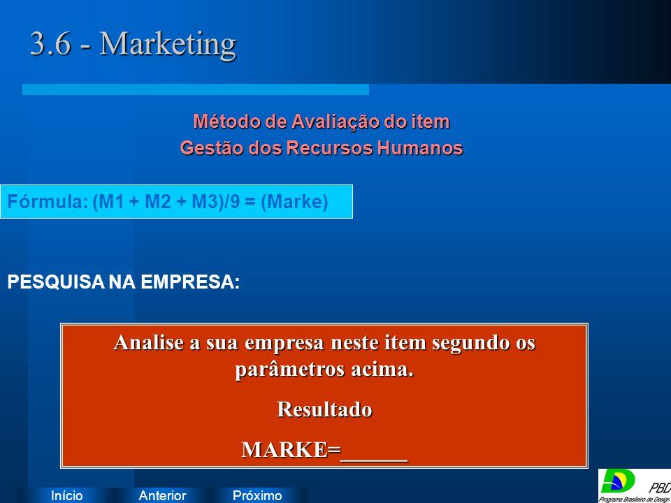 Próximo AnteriorInício 3.6 - Marketing Instruções: Exclua o ícone do documento de exemplo e substitua-o pelos do documento de trabalho: Crie um docume