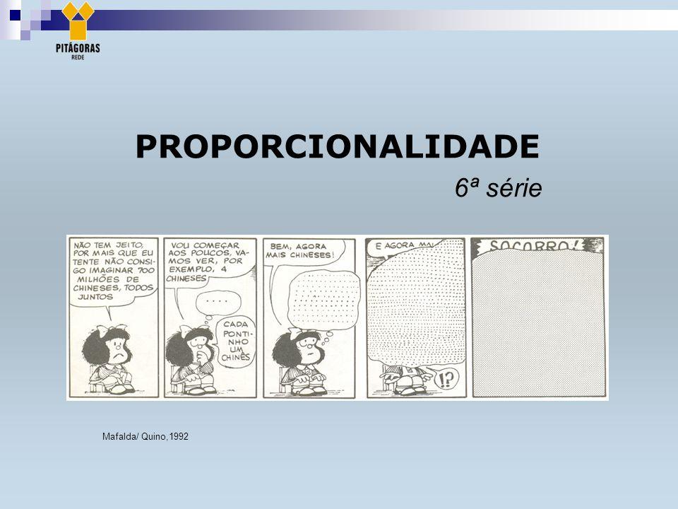 PROPORCIONALIDADE 6ª série Mafalda/ Quino,1992