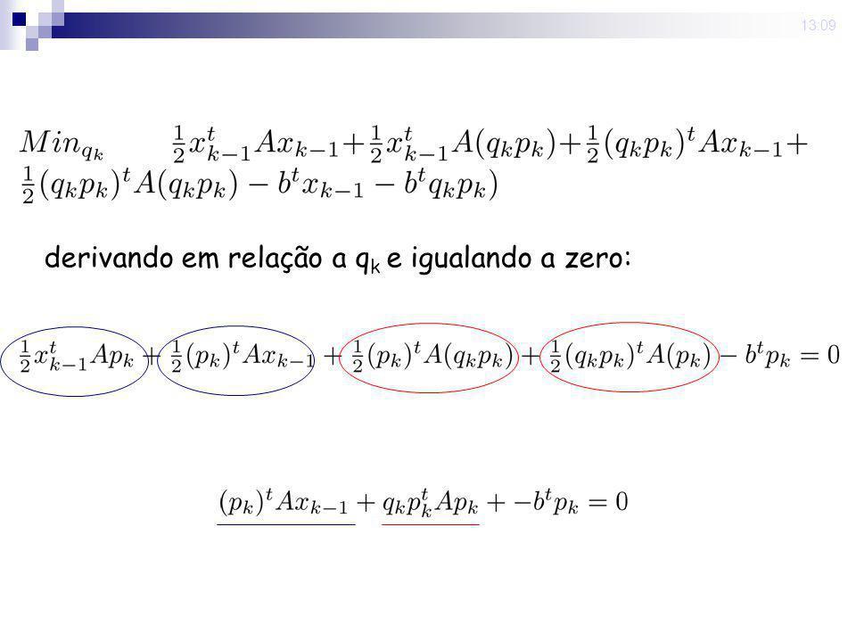 16 Nov 2008. 13:09 derivando em relação a q k e igualando a zero: