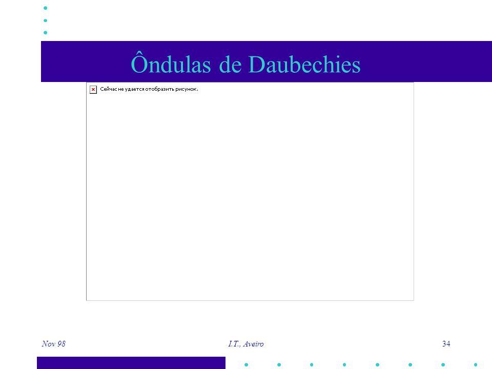 Nov 98 I.T., Aveiro 34 Ôndulas de Daubechies