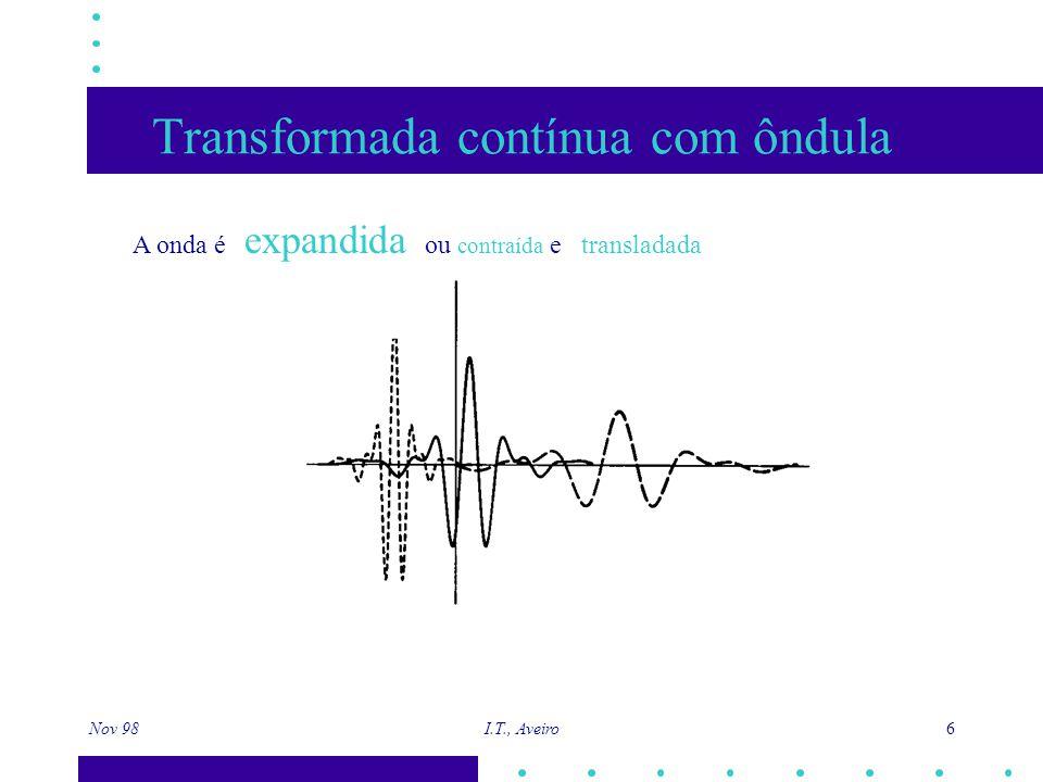 Nov 98 I.T., Aveiro 17 Análise de Resolução Múltipla (ARM) Dada como surge a base o.