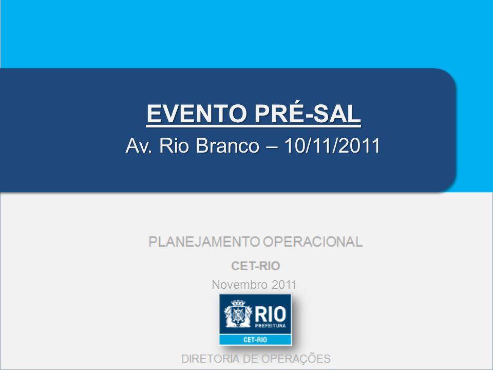 EVENTO PRÉ-SAL Av. Rio Branco – 10/11/2011 Novembro 2011