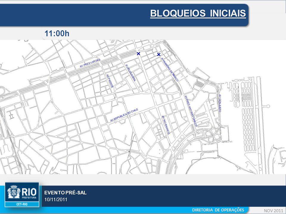 NOV 2011 EVENTO PRÉ-SAL 10/11/2011 BLOQUEIOS INICIAIS 11:00h