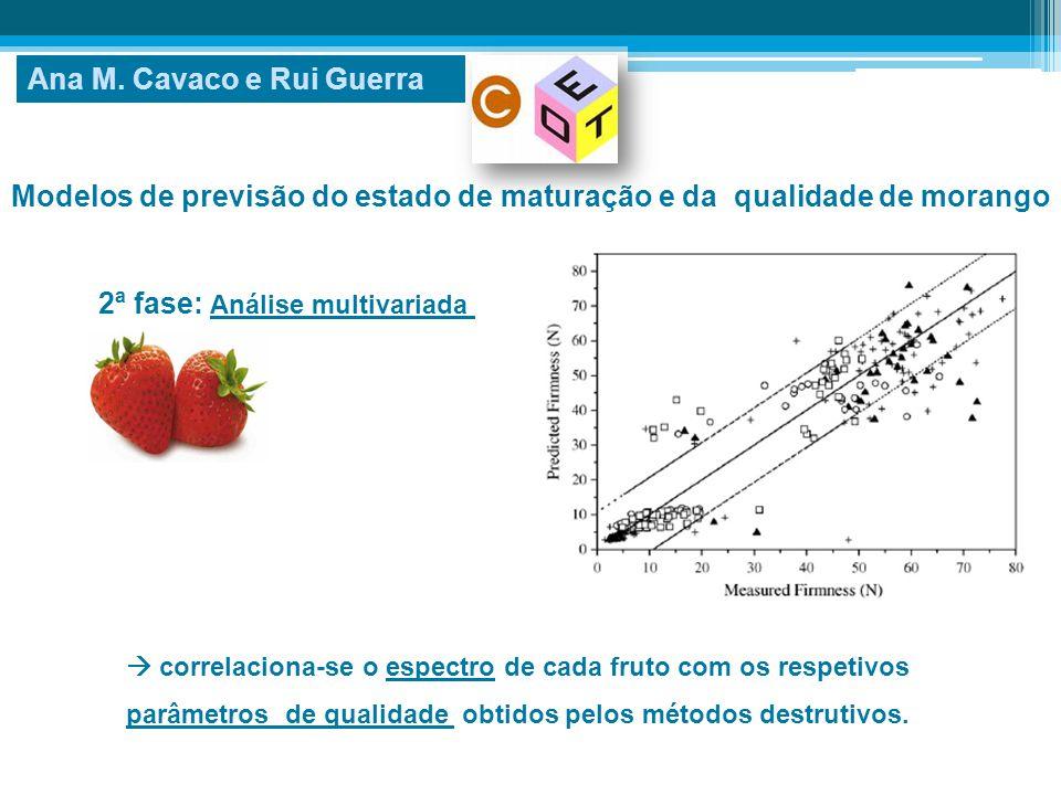 Modelos de previsão do estado de maturação e da qualidade de morango  correlaciona-se o espectro de cada fruto com os respetivos parâmetros de qualid