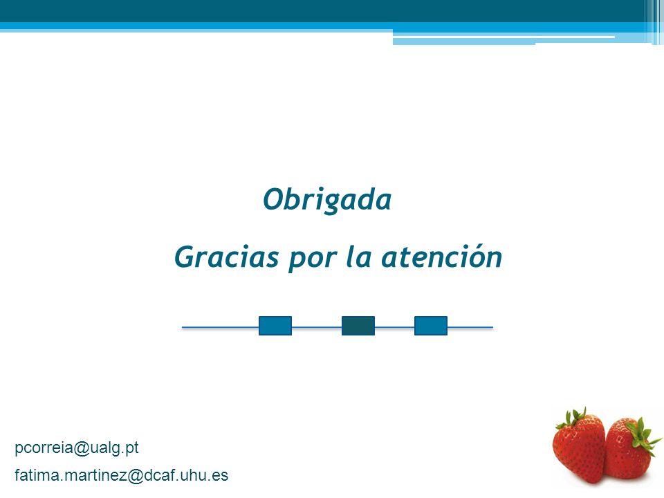 Gracias por la atención Obrigada pcorreia@ualg.pt fatima.martinez@dcaf.uhu.es