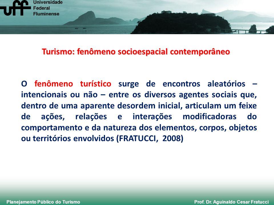 Planejamento Público do Turismo Prof. Dr. Aguinaldo Cesar Fratucci O fenômeno turístico surge de encontros aleatórios – intencionais ou não – entre os
