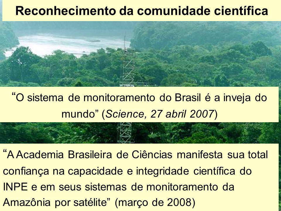 """Reconhecimento da comunidade científica """" A Academia Brasileira de Ciências manifesta sua total confiança na capacidade e integridade científica do IN"""
