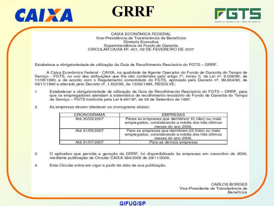 GRRF GIFUG/SP