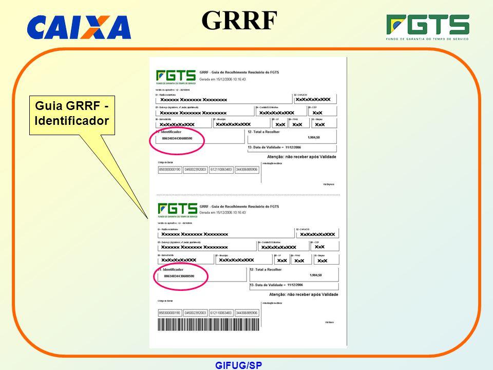 GRRF GIFUG/SP Guia GRRF - Identificador