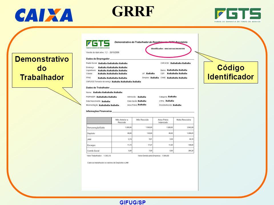 GRRF GIFUG/SP Demonstrativo do Trabalhador Código Identificador