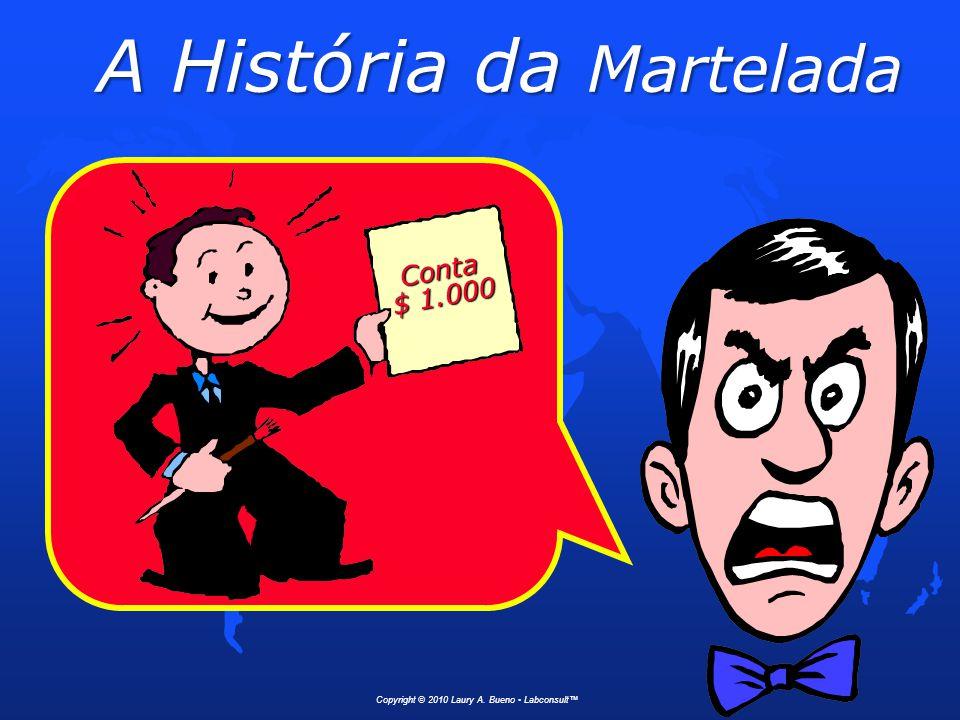 A História da Martelada 1 Martelada.............$ 1,00 Saber onde dar a martelada...$ 999,00 Total..........$ 1.000,00 Conta Atenciosamente Copyright © 2010 Laury A.
