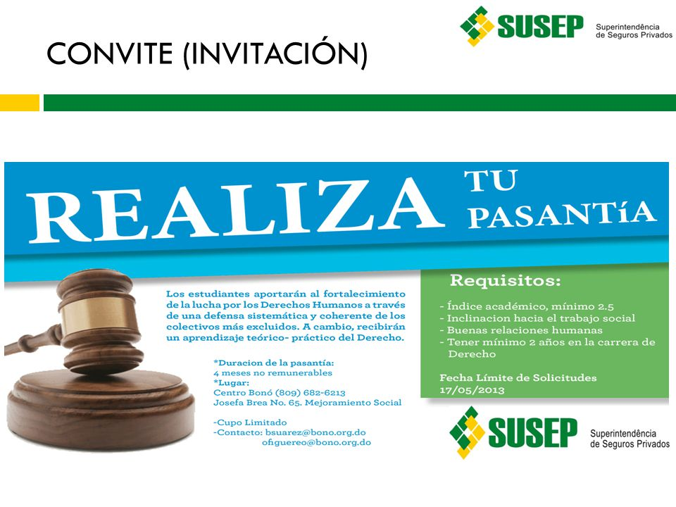 CONVITE (INVITACIÓN)