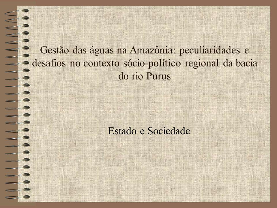 Gestão das águas na Amazônia: peculiaridades e desafios no contexto sócio-político regional da bacia do rio Purus Estado e Sociedade