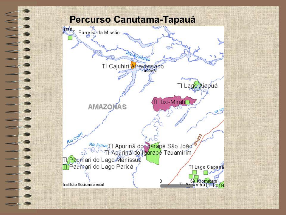 Percurso Canutama-Tapauá